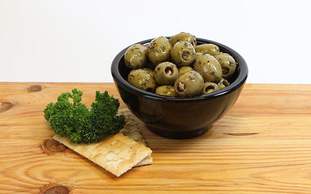 Knoflook olijven